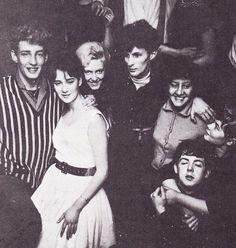 Rory Storm, Dot Rhone, and Paul McCartney