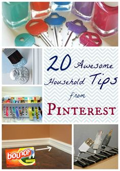 Household Hacks On Pinterest for decorating, organizing, cleaning and repairs