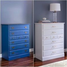 I kind of like the blue chest... Before & After: 3 Thrift Store Finds Get a Facelift