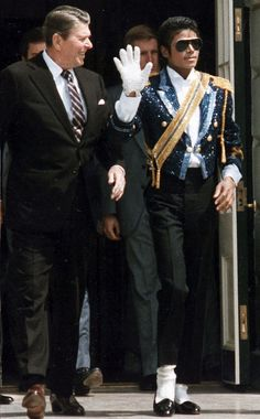 reagan and michael jackson...2 great men who are now gone  :(