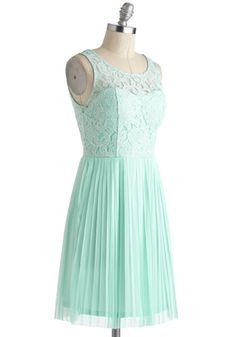 Someone from Your Pastel Dress. Youre sipping champagne and chatting with your pal about your adorable, mint dress when her gaze drifts just over your shoulder and her jaw drops. #mint #wedding #bridesmaid #modcloth