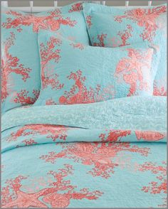 ce7d0bf4a87 Lilly Pulitzer bedding! Cute colors! And it has starfish and shells and  stuff.