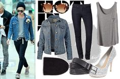 Big Bang airport fashion - girl version