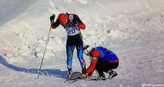 On Tuesday, February 11, 2014, during the semifinals for the men's cross country ski sprint, Canadian cross-country ski coach Justin Wadsworth helps Russian skier Anton Gafarov into a new ski after his broke partway through the race. This parallels a similar situation in the 2006 Turin Winter Olympic games, when a Norwegian coach, Bjornar Haakensmoen, came to the assistance of Canadian cross-country skier Beckie Scott after her pole broke during the finals.