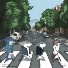 Abbey Road Album Cover Parodies,  shark walk. Follow RUSHWORLD! We're on the hunt for everything you'll love!