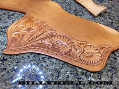 Stohlman 45 Sa Holster For Vaquero - Floral Carved - Gun Holsters . Leather Tooling Patterns, Leather Pattern, Gun Holster, Leather Holster, Western Holsters, Stamp Carving, Leather Stamps, Le Far West, Motif Floral