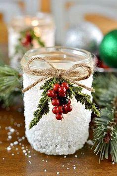 Photo: Zasněžený svícínek  http://www.decoart.com/blog/project/89/snowy_mason_jar
