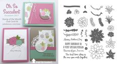 Stampin' Up! Oh So Scculent Card Kit from 2017 Occasions Catalog for January Stamp of the Month Club by Julie Davison www.juliedavison.com/clubs