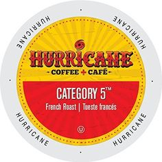 Hurricane Coffee And Tea Category 5 Rainforest Alliance Single-serve Cup Portion Pack for Keurig K-Cup Brewers