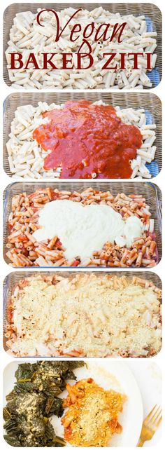 V/GF Baked Ziti with Cashew Cheese sauce. Easy + Healthy kid-friendly dinner.
