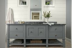 Michael Homchick Stoneworks: September 2012 - soapstone vanity countertop on beautiful free-standing cabinet