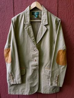 ORVIS Hunting Fishing Safari Canvas Jacket Mens Large XL Brown Extra Elbow Pads #ORVIS #BasicJacket