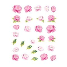 5Pcs Beautiful Flowers Pattern Nail Art Tips Decoration Sticker, BLE2021 >>> Read more reviews of the product by visiting the link on the image.