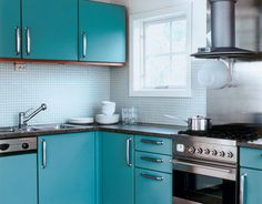 Totally Turquoise #homedecor #kitchens