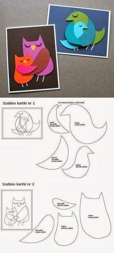 Carte parent-enfant oiseau