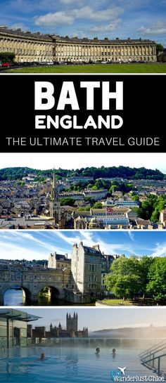 Bath, England: The Ultimate Travel Guide. Find out the top things to do, the best restaurants, hotels, and some insider information to help you plan your day trip or holiday to Bath in England. https://www.wanderlustchloe.com/bath-england-travel-guide/