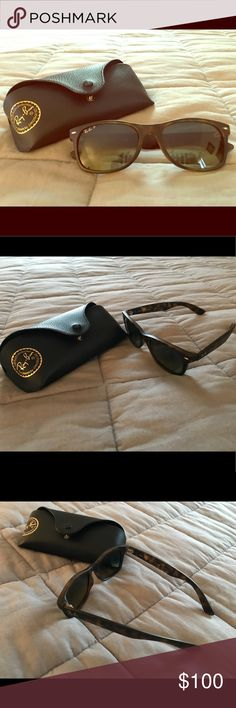 EUC Ray-Ban wayfairer sunnies - tortoise, w/ case Excellent used condition Ray-Ban wayfairer sunnies - tortoise shell brown, comes with case. I bought these sunglasses in time square at sunglass hut on a whim, and didn't try them on. I tried to wear them a few times but really they're just too big for me. Check out the pictures for details. I hate to see these just sitting in my dresser drawer unused. Ray-Ban Accessories Sunglasses