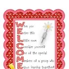 Welcome your students to school with this polka-dot poster! Also serves as a great example of an acrostic poem :)...