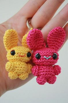Bunny key-rings:) - sisters!