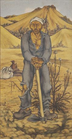 Neşet Günal, (1923-2002)Toprak Adam, 1974 Tuval üzerine yağlıboya 185 x 96 cm İstanbul Modern Sanat Müzesi Koleksiyonu / Oya - Bülent Eczacıbaşı Bağışı