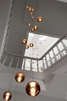 contemporary Bocci lights from Vancouver in a home in Belgium