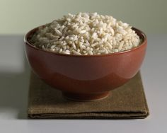 1 cut short-grain brown rice Brown Rice Benefits, Short Grain Brown Rice, Butternut Squash Risotto, Bobs Red Mill, Serving Bowls, Decorative Bowls, Grains, Healthy, Tableware