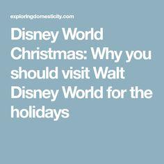 Disney World Christmas: Why you should visit Walt Disney World for the holidays