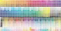 Pantone Color Chart, All Colors Pms Color Chart, Color Mixing Chart, Color Charts, Dulux Heritage Colours, Colour Pallete, Color Schemes, Carta Pantone, Cores Rgb, Pantone Color Chart