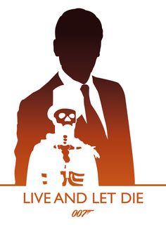 Live And Let Die, James Bond by Phil Beverley, via Behance