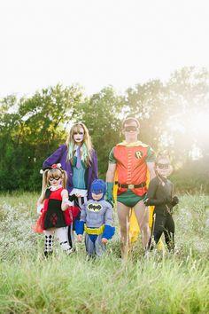 batman + family   halloween photo session