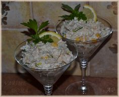Salát z kuřecího masa a celeru Food Humor, Funny Food, Guacamole, Ham, Salads, Recipies, Appetizers, Food And Drink, Low Carb