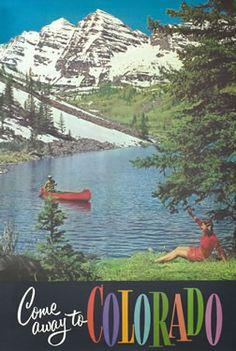 Vintage Colorado poster