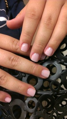 """Milan P is wearing an Opaque Prizma Powder coloured acrylic line by Tammy Taylor Nails Inc called """"Cover It Up""""... Without Shimmer ... Fresh Pink.                  http://zenzalon.com"""