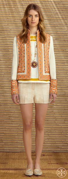 Tory Burch Resort 2014 #fashion #design #trends