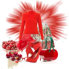 """""""Cherry Explosion"""" by cavell on Polyvore"""