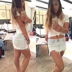 Light wash denim skirt Hardly worn good condition Hollister Skirts Mini