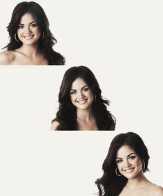 Aria Montgomery (Lucy Hale) flawless hair and makeup