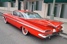 1959 Chevy Impala seen in downtown Escondido during the initial Cruisin Grand event, 2015. Escondido California