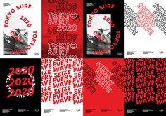 Tokyo Surf 2020 - Visual Communications - Tokyo Surf 2020 on Behance - Sports Graphic Design, Graphic Design Posters, Graphic Design Typography, Graphic Design Inspiration, Layout Design, Web Design, Yearbook Design, Collage Design, Poster Layout