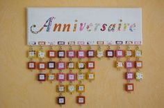 Family Birhtday Calendar DIY / tuto en français