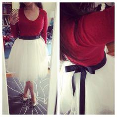DIY tulle skirt.