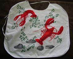 Rare Vintage Wilendure Lobster Bibs 1950's by OutOfMyAttic on Etsy, $50.00