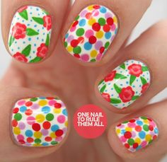 Floral, cute, girly NAILS!