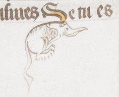 Cadel critters. Royal MS 17 E VII vol 2 f. 3v, 3r @BLMedieval