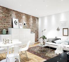 Interieur inspiratie: De perfecte bakstenen muur