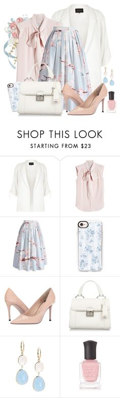 """""""Working every day! (set more copied😥)"""" by ela79 ❤ liked on Polyvore featuring River Island, MaxMara, Chicwish, Casetify, Paul Smith, Miu Miu, Saks Fifth Avenue and Deborah Lippmann"""