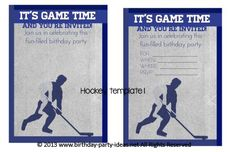 Hockey Birthday Party Theme #birthday #party #invitation #template #printable #hockey #sports $2.00