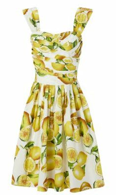 lalaforfashion: Economize vs Fantasize: Lemon print dress