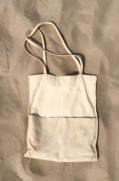 Sensual Delight in white sun sand sea and some wind, natural vegtanned eco-leather tote bag