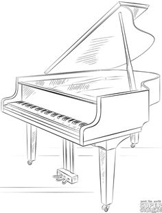 How to draw a grand piano | Step by step Drawing tutorials